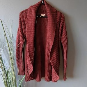 Mossimo Shawl Collar Rust Orange Cardigan